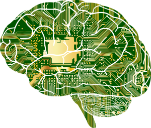 Picture of a brain as circuit board